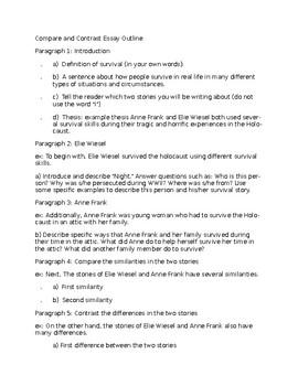 Compare and Contrast Essay -- Holocaust Unit