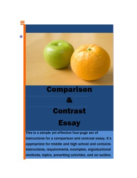 compare and contrast essays worksheets  teaching resources  tpt  compare and contrast essay instructionsmethodstopicsexprewriting
