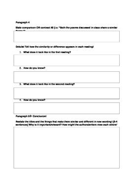 compare and contrast essay organizer
