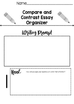 Business Essay Examples Compare And Contrast Essay Organizer Teaching Resources  Teachers Pay  Teachers Compare Contrast Essay Examples High School also Healthy Diet Essay Compare And Contrast Essay Organizer Teaching Resources  Teachers  Model English Essays