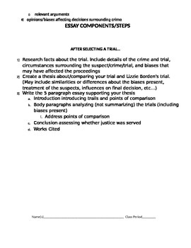 Compare and Contrast Essay Packet