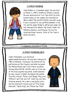Compare and Contrast Essay-Popular Male Singers
