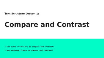 Compare and Contrast Essay Response PPT 1