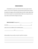 Compare and Contrast Essay Thesis Statement Template (Short Story)