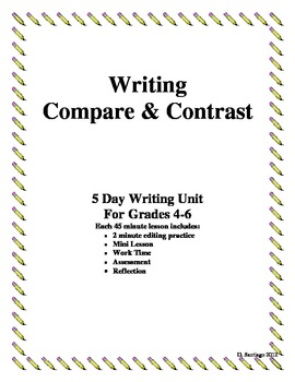 compare and contrast essay writing grades   tpt