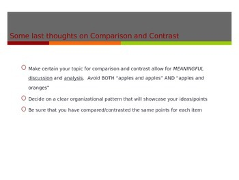 Compare and Contrast Essay Writing PowerPoint and Note taking sheet
