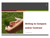 Compare and Contrast Essay Writing PowerPoint and Note tak