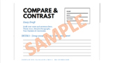 Compare and Contrast Essay Writing Template