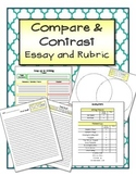 Step Up to Writing - Writing Activity Compare and Contrast Essay and Rubric