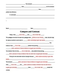 Compare and Contrast Essays Using Text Evidence