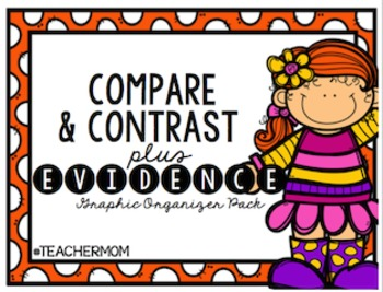 Compare and Contrast + Evidence Graphic Organizers