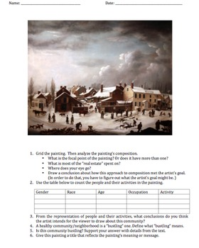 Compare and Contrast Exercises with Paintings