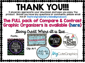 Compare and Contrast FREEBIE