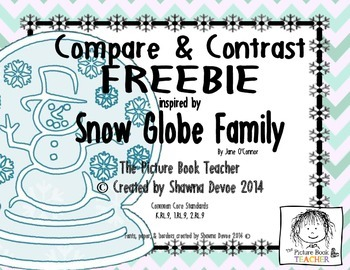 Compare and Contrast FREEBIE inspired by Snow Globe Family by Jane O'Connor