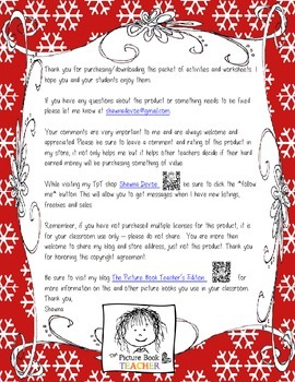 Compare and Contrast FREEBIE inspired by The Biggesst Snowball Ever