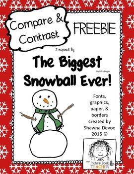 Compare and Contrast FREEBIE inspired by The Biggesst Snow