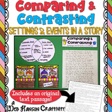 Compare and Contrast Fiction Elements Craftivity