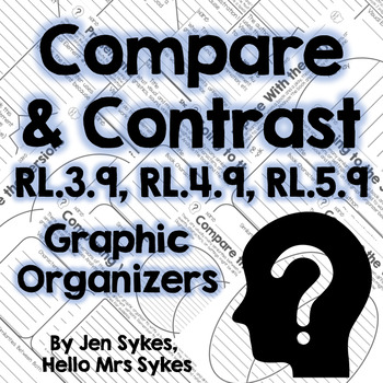 Compare and Contrast Fiction Graphic Organizers RL.3.9 RL.4.9 RL.5.9