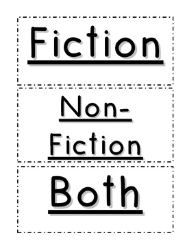 Compare and Contrast - Fiction and Non-Fiction