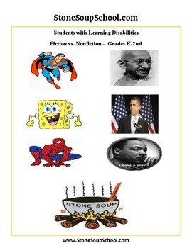 Compare and Contrast Fiction vs Nonfiction K -2 Learning Disabilities - ESSA