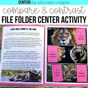 Compare and Contrast File Folder Center