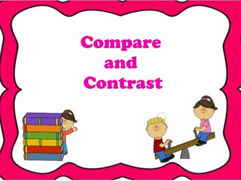 Compare and Contrast: Flipchart and Worksheets