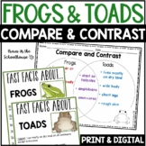 Compare and Contrast Frogs and Toads - Reading Comprehension Activities