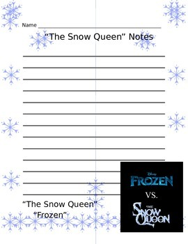 """Compare and Contrast: """"Frozen"""" vs """"The Snow Queen"""" Thoughts"""