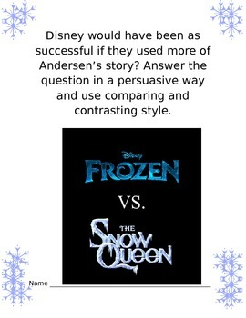 "Compare and Contrast: ""Frozen"" vs ""The Snow Queen"" Thoughts"