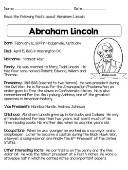 Compare And Contrast Passages George Washington Abraham Lincoln