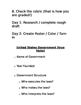 Compare and Contrast Government Project