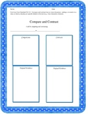 Compare and Contrast Graphic Organizer for CC RL.5.3