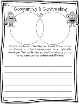 Compare and Contrast Graphic Organizers (Halloween Edition)