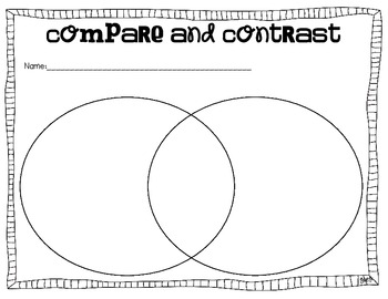 Compare and Contrast ~ Graphic Organizers To Use With Any Books
