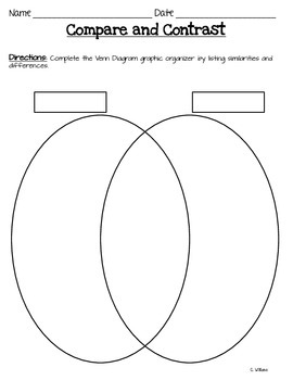 Compare and Contrast Graphic Organizers and Essay Organizer