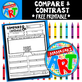 Art Compare and Contrast Handout FREE
