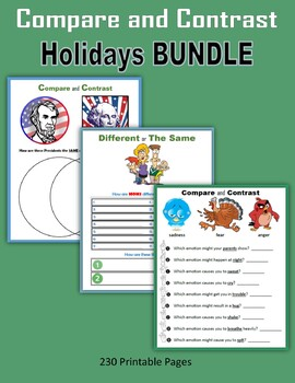 Compare and Contrast - Holidays BUNDLE