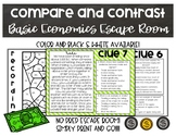 Compare and Contrast Informational Texts- Basic Economics Escape Room