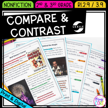 Compare and Contrast Informational Texts on the Same Topic-  RI.2.9 & RI.3.9