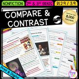 Compare & Contrast Text: Same Topic - RI.2.9 / RI.3.9 - Printable & Digital