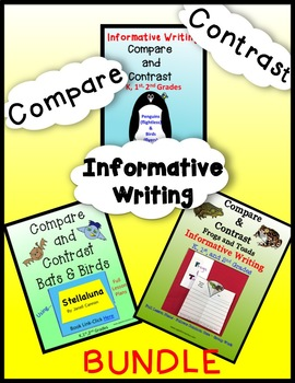 Animals - Compare and Contrast/Writing BUNDLE - K, 1st & 2nd grades