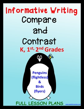 Informative Writing, Compare and Contrast Kindergarten, 1st, 2nd grades