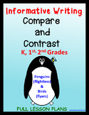 Informative Writing, Compare and Contrast Kindergarten, 1s