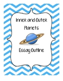 Compare and Contrast Inner and Outer Planets - Essay Outline