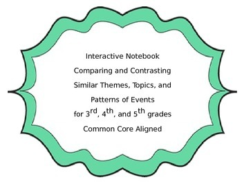 Compare and Contrast Interactive Notebook