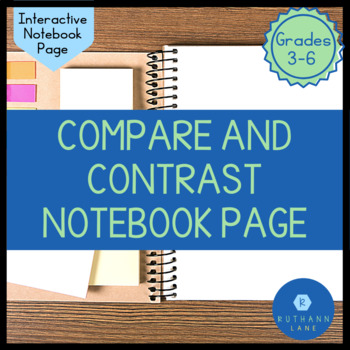 Compare and Contrast Interactive Notebook Page