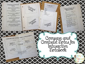 Compare and Contrast Interactive Notes & Compare My Teachers Activity
