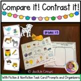Compare & Contrast It! Fiction & Nonfiction Task Card Orga