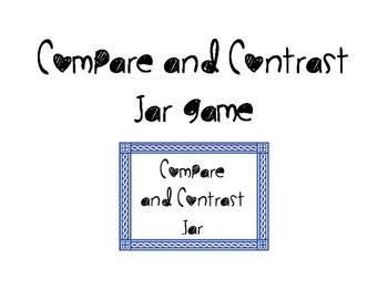 Compare and Contrast Jar Game