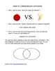 Compare and Contrast Lesson Plan using Venn Diagram
